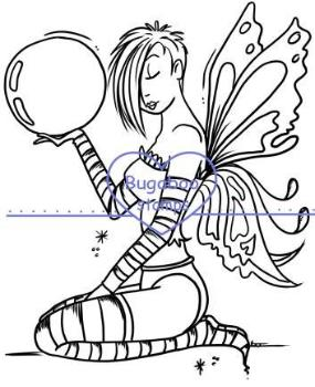 Digi stamps,beautiful fairy,Bugaboo Stamps,