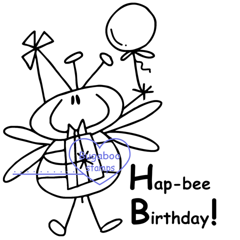 Digi stamps,Bees - Birthday,Bugaboo Stamps,