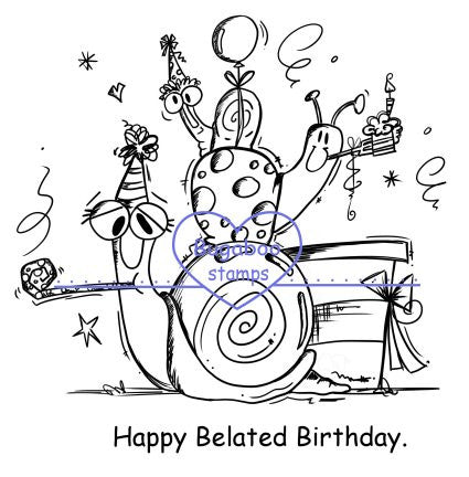 Digi Singles,snails - belated birthday,Bugaboo Stamps,