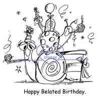 Digi Singles, snails - belated birthday,Bugaboo Stamps,