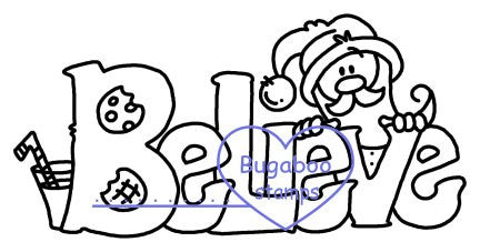 Word art/ Sentiments,Digi Singles,Christmas words - believe,Bugaboo Stamps,