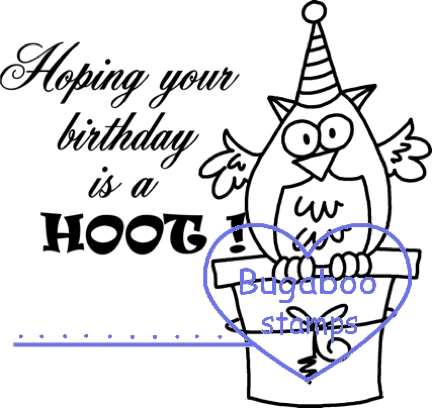 Digi Singles,Bird Greetings - birthday hoot,Bugaboo Stamps,