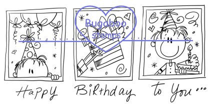Digi Singles,Birthday strip,Bugaboo Stamps,