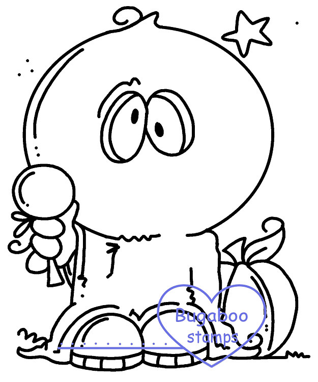 Digi stamps,Bobblehead ghost,Bugaboo Stamps,