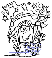 Digi stamps,Bobblehead witch,Bugaboo Stamps,