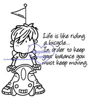 Digi stamps,Bugaboo Brat - riding a bike,Bugaboo Stamps,