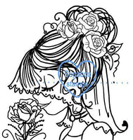 A Beautiful Bride portrait image  Digi stamps, clip art, illustrations from Bugaboo Stamps