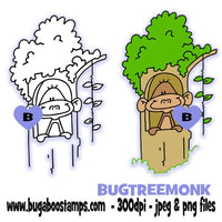 digi stamps and clip art stick monkey imageS Bugaboo Stamps