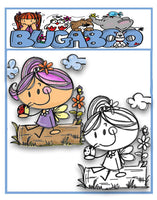 Digi stamps,BUGAKVFAIRY akv SKETCHY fairy,Bugaboo Stamps,