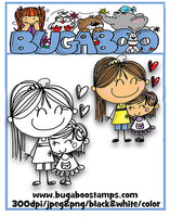 Digi stamps,BUGAKVGIRLS2 akv SKETCHY girls2,Bugaboo Stamps,