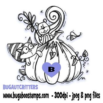 Digi stamps,Autumn Critters,Bugaboo Stamps,