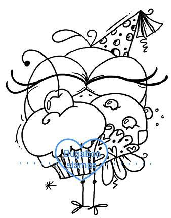 Digi stamps, BUGBDAYBIRD2 birthday bird 02,Bugaboo Stamps,