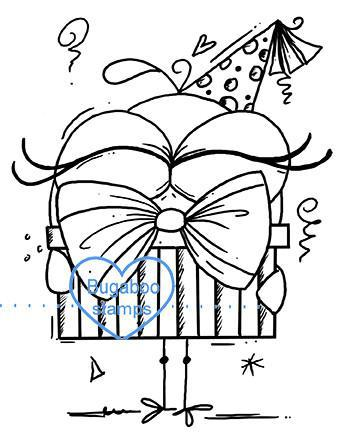 Digi stamps,BUGBDAYBIRD3 birthday bird 03,Bugaboo Stamps,