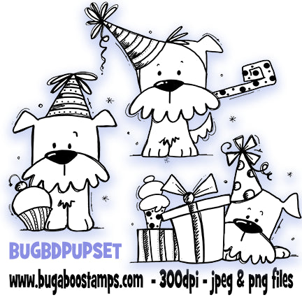 Bugaboo Digi Stamps Birthday Puppy images and digi stamps