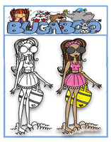 Digi stamps, beach girlz,Bugaboo Stamps,