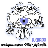 *New for MARCH*,Digi Singles, BUGBIRD01,Bugaboo Stamps,