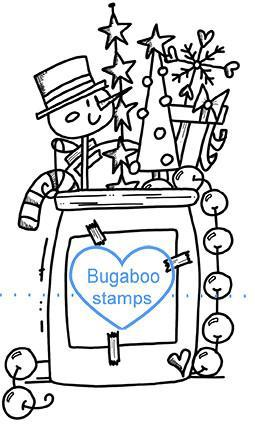 Digi stamps,Christmas Jar,Bugaboo Stamps,
