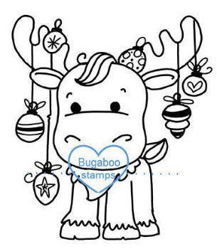 Digi stamps,BUGCMO christmas moose ornaments,Bugaboo Stamps,