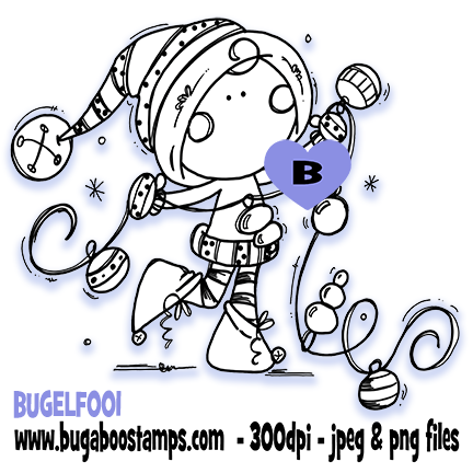 Digi stamps,ELF 001,Bugaboo Stamps,