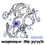 a cute little Christmas elf image Digi stamps, clip art, illustrations from Bugaboo Stamps