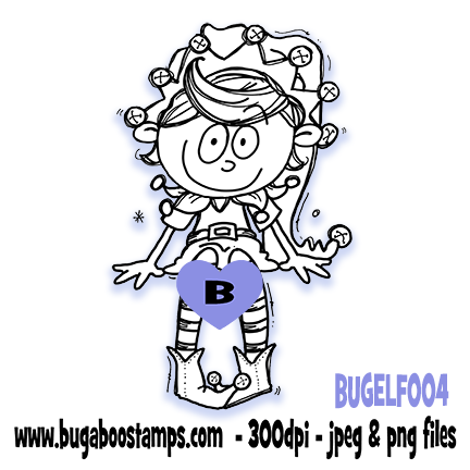 Digi stamps,ELF 004,Bugaboo Stamps,