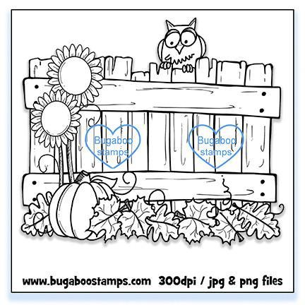 Digi stamps,BUGFALLFENCE Fall Fence,Bugaboo Stamps,