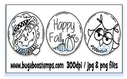 Digi stamps,Fall Trio,Bugaboo Stamps,