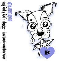 *New for MARCH*,Digi Singles,BUGFUNNYPUP,Bugaboo Stamps,