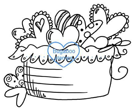 Digi stamps,heart basket,Bugaboo Stamps,