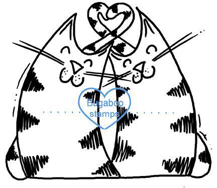 digi stamps,love heart cats,Bugaboo Stamps,