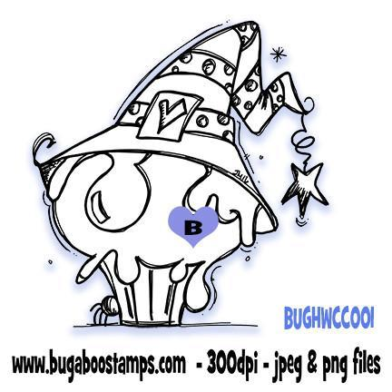 Digi Stamps,Halloween Cupcake 001,Bugaboo Stamps,