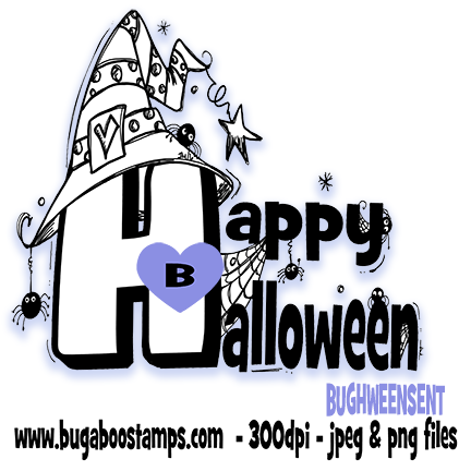 Digi Stamps,Halloween Sentiment,Bugaboo Stamps,