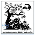 Digi stamps,BUGHWEENSIL001 Halloween Silouette 001,Bugaboo Stamps,