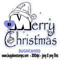 Digi stamps,Merry Christmas Word,Bugaboo Stamps,