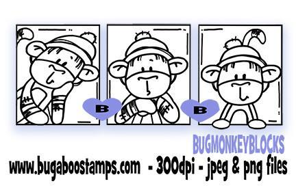 digi single,BUGMONKEYBLOCKS,Bugaboo Stamps,