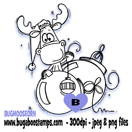 Digi Singles, Moose Ornaments,Bugaboo Stamps,