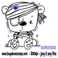 Digi Singles,BUGPIRATEBEAR Pirate Bear,Bugaboo Stamps,