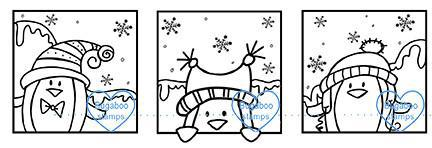 Digi Stamps,penguin trio blocks,Bugaboo Stamps,