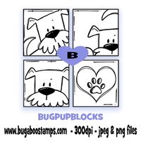 Digi stamps,puppy blocks,Bugaboo Stamps,