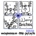 Digi stamps,Reindeer Blocks,Bugaboo Stamps,