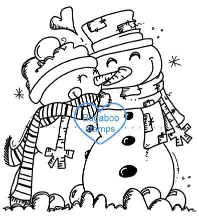 Digi Singles,BUGSC01 Snowman couple,Bugaboo Stamps,