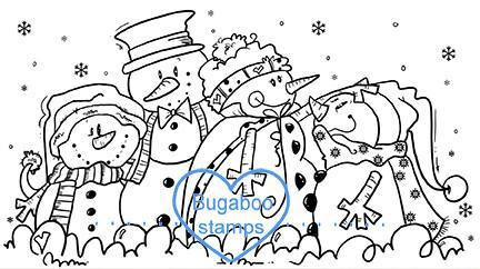 Digi Singles,BUGSF01 Snowman family,Bugaboo Stamps,