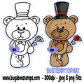 Digi Singles,Teddy Top Hat Digi Stamp,Bugaboo Stamps,