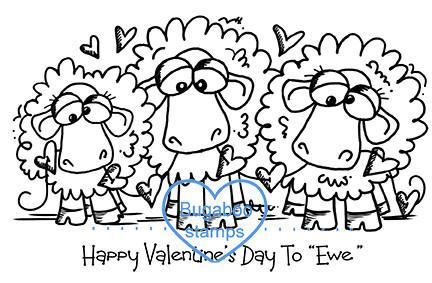 Digi stamps,happy valentines to ewe,Bugaboo Stamps,