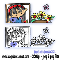 Digi stamps.clip art,window girl,Bugaboo Stamps,