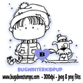 Digi stamps,Winter Kidz with Puppy,Bugaboo Stamps,