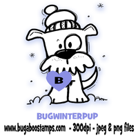 Digi Stamps,Winter Puppy Dog,Bugaboo Stamps,