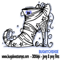 Digi Singles,BUGWITCHSHOE Witch shoe,Bugaboo Stamps,