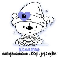 Digi stamps,Christmas Bear,Bugaboo Stamps,