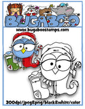 Digi stamps, Christmas Bird 001,Bugaboo Stamps,